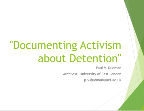 """Documenting Activism about Detention"""