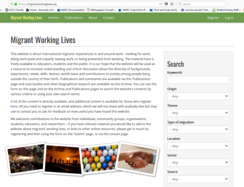 New Online Resource: Migrant Working Lives website