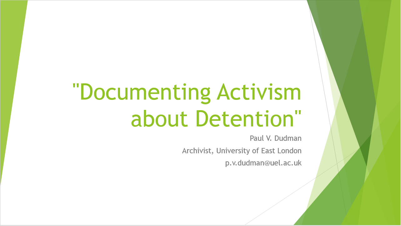 """""""Documenting Activism about Detention"""""""