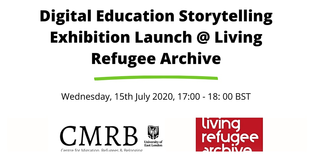 Digital Education Storytelling Exhibition Launch – 4pm-5pm, Wednesday 15 July 2020